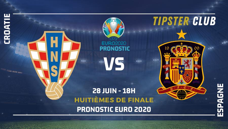 Pronostic Croatie – Espagne – Euro 2020 – 28/06/21