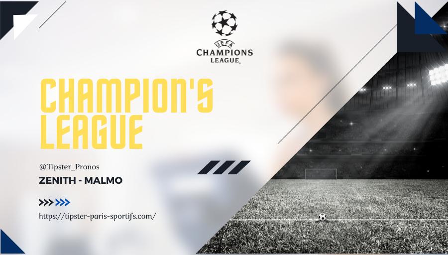 Pronostic Zenith – Malmo – Ligue des Champions – 29/09/21